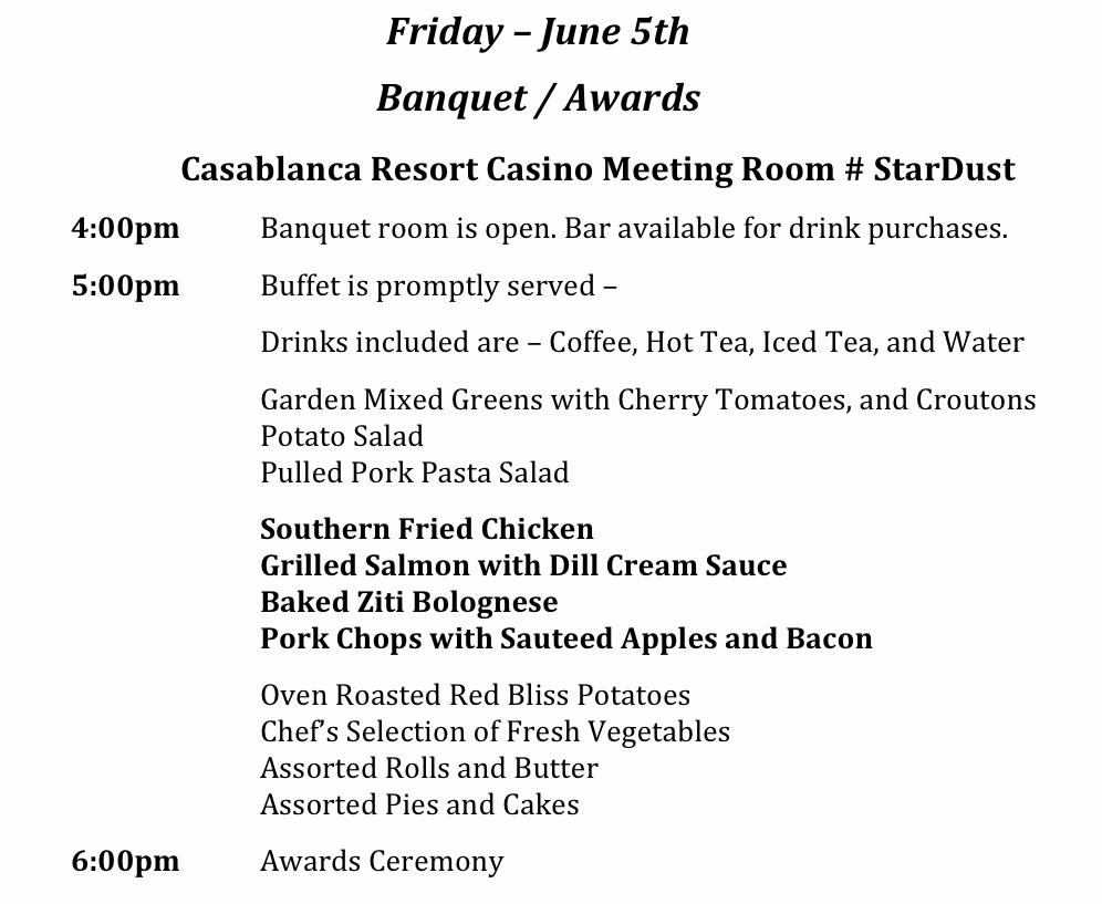 Banquet Schedule